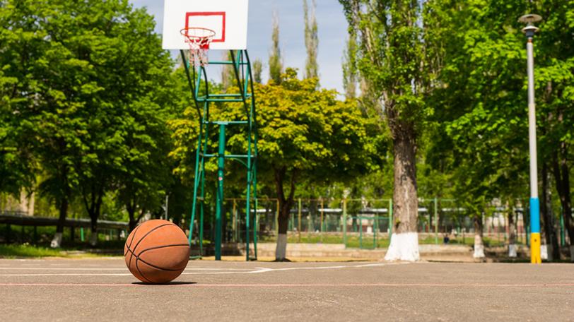 の が ゴール 公園 ある バスケット 近く