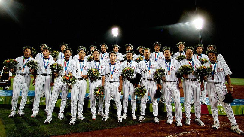2004年アテネオリンピック野球日本代表「長嶋ジャパン」Ⓒゲッティイメージズ