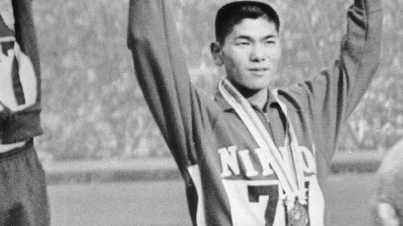 1964年東京五輪で銅メダルを獲得した円谷幸吉Ⓒゲッティイメージズ