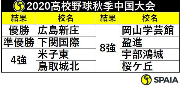 2020年高校野球秋季中国大会