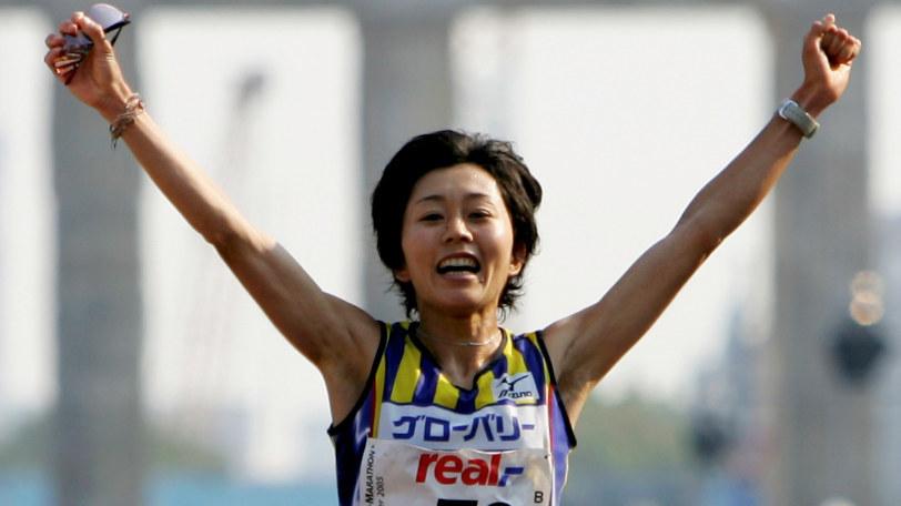ベルリンマラソンで優勝した野口みずきⒸゲッティイメージズ