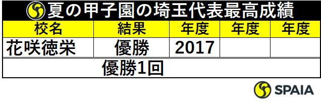 夏の甲子園の埼玉代表最高成績