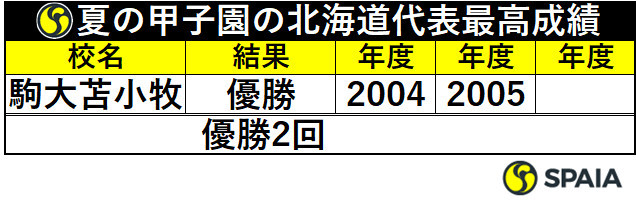 夏の甲子園の北海道代表最高成績