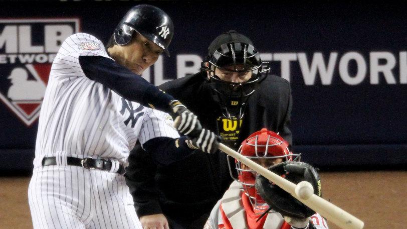 ヤンキース時代の松井秀喜Ⓒゲッティイメージズ