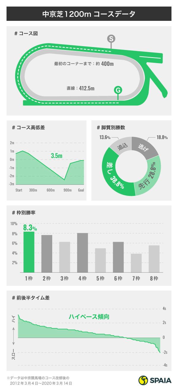 中京芝1200mデータインフォグラフィック