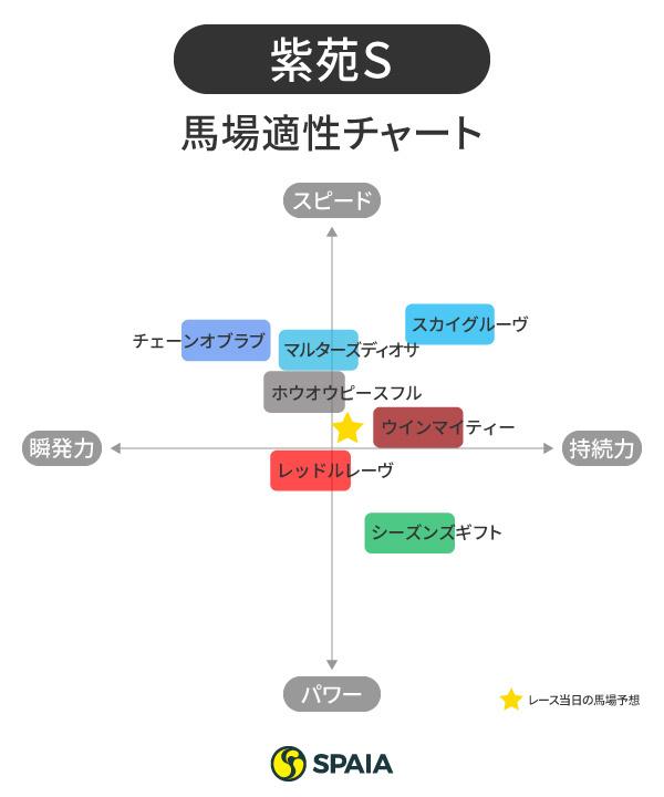 紫苑S馬場適性チャート