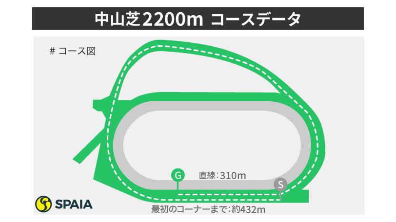 中山芝2200mコース分析,ⒸSPAIA