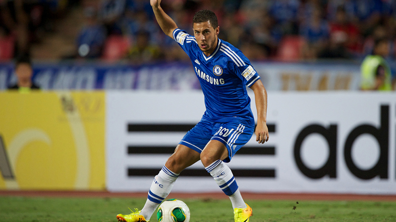eden hazard celebration