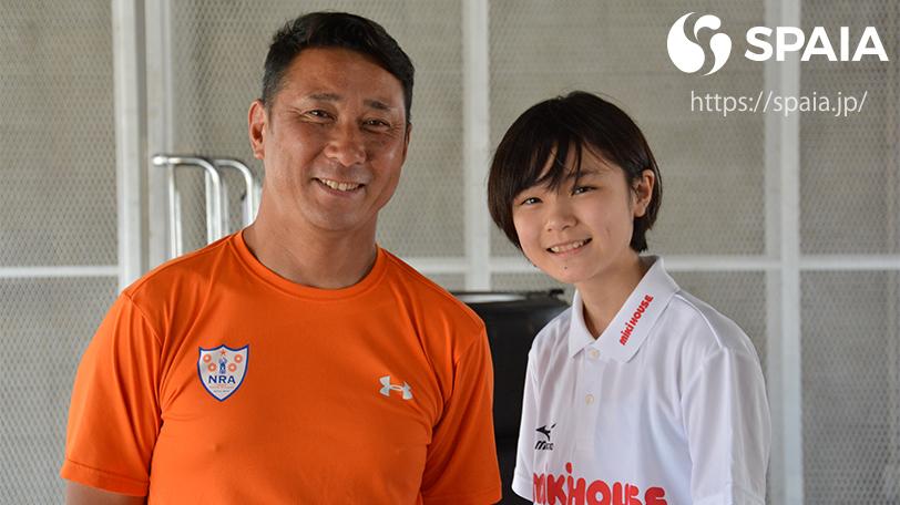Juju選手(右)と野田英樹氏ⒸSPAIA