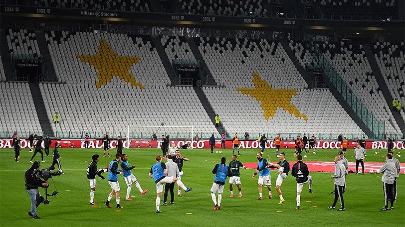 3月8日、無観客試合となったイタリア・セリエAのユヴェントス-インテル戦