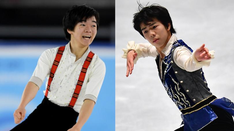 鍵山優真(左)と佐藤駿Ⓒゲッティイメージズ