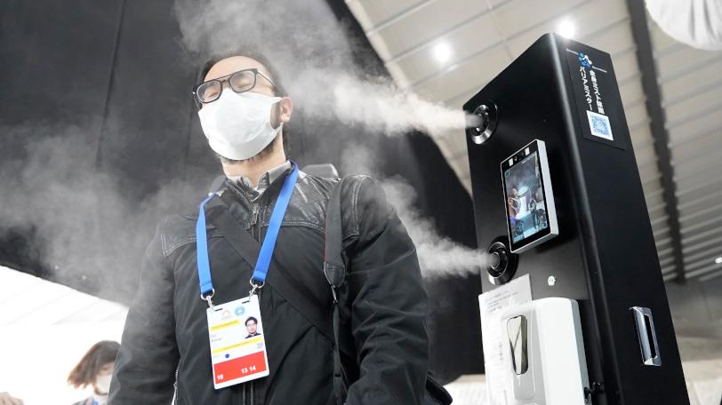 除菌効果のあるミストシャワーが設置された体操国際競技会Ⓒゲッティイメージズ