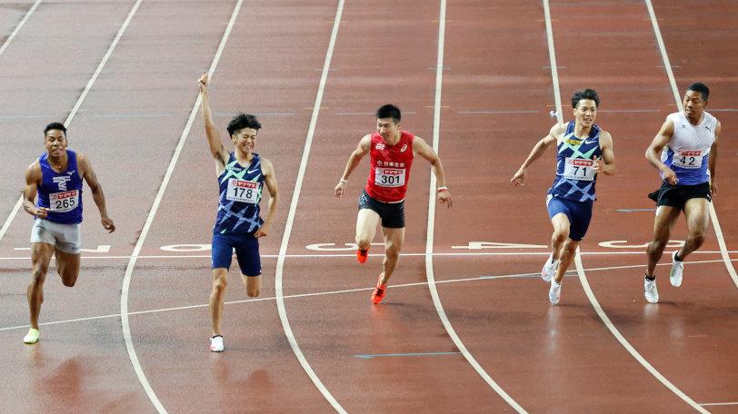 陸上日本選手のゴールの瞬間Ⓒゲッティイメージズ