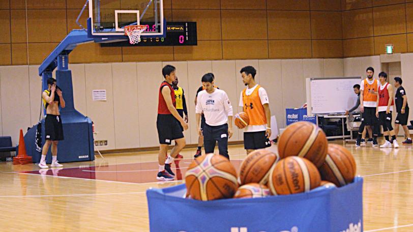 バスケ男子日本代表合宿練習風景Ⓒマンティー・チダ