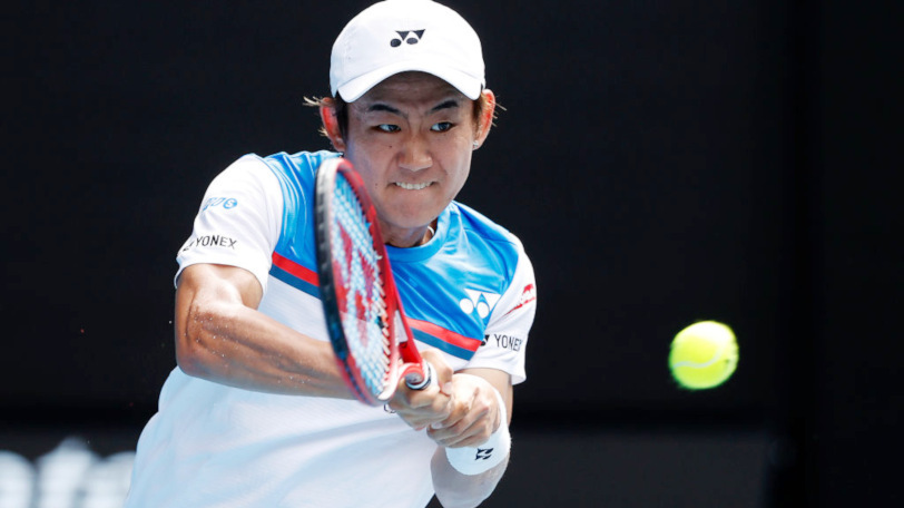 テニス全豪オープンでの西岡良仁選手Ⓒゲッティイメージズ